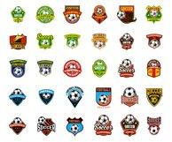 30 football / soccer emblem sports logo  Product Image 2