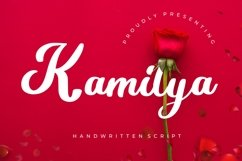 Kamilya Handwritten Script Product Image 1