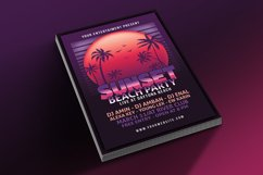 Sunset Beach Party Flyer Product Image 4