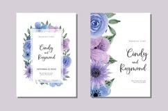 Vintage Flower Bouquet Watercolor Wedding Invitations SVG Product Image 1