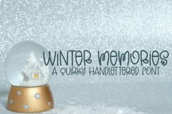 Web Font Winter Memories - A Quirky Hand-Lettered Font Product Image 1