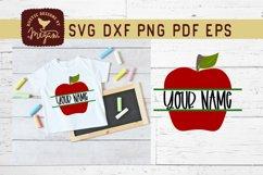 Back To School Apple Monogram SVG Product Image 1