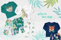 Nursery Art Jungle Animals Illustrations Patters & More Bund Product Image 10