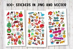 Merry Christmas Stickers Bundle. Over 100 clipart and BONUS! Product Image 3