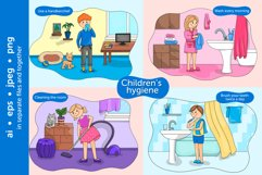 Baby hygiene vector illustration set Product Image 2