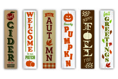 Fall / Autumn porch sign bundle - SVG, EPS, JPG, PNG, DXF Product Image 2