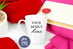 Latte Mug Mockup Valentine's Day PSD & JPG full wrap mockup Product Image 2