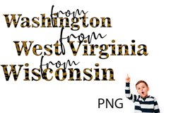Sublimation, Png, the States of the USA 5 Product Image 5