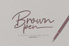Brown Pen Script Product Image 1