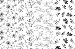 37 monochrome patterns. Hand drawn seamless backgrounds. Product Image 5