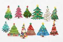 Watercolor Christmas tree clipart Product Image 2