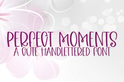 Perfect Moments - A Quirky Handlettered Font Product Image 1