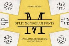 Split Letter Monogram Font Product Image 1