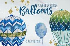 Watercolor hot air balloons Product Image 3