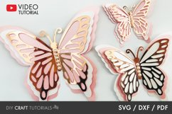 BEST SELLER - Butterfly SVG, 3D Butterfly SVG Product Image 1