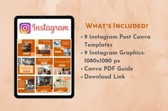 Instagram Post Template- Fall themed Interior & Real Estate Product Image 3