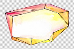 Tourmaline crystals Watercolor png Product Image 5