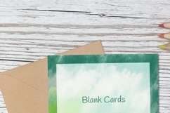 Green Watercolor Blank Card Templates Editable PDF MS Word Product Image 6