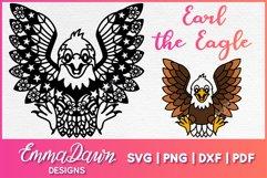 EARL THE EAGLE SVG ZENTANGLE MANDALA DESIGN Product Image 1