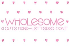 Web Font Wholesome - A Cute Hand-Lettered Font Product Image 1
