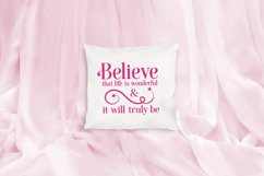 Believe that Life is Wonderful, An Inspirational Life SVG Product Image 3