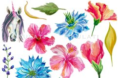 Floral Unicorn Graphics / Clipart / Illustrations Product Image 3