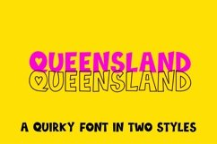 Web Font Queensland, a quirky handwritten font   two styles Product Image 1