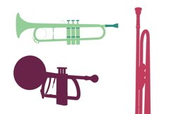 MUSICAL INSTRUMENTS collection Clipart. Vector illustration Product Image 3