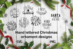 Hand lettered Christmas ornament designs Product Image 1