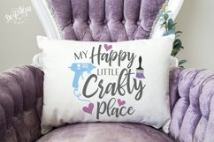 My Happy Little Crafty Place SVG|DXF Cut File Product Image 1