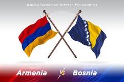 Armenia vs Bosnia and Herzegovina Two Flags Product Image 1