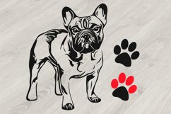 French bulldog SVG, cute Dog paw SVG, Family Pet, 817S Product Image 1