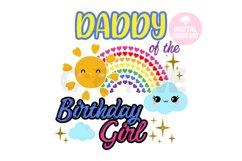 Daddy of the Rainbow Birthday Girl svg |Rainbow Birthday svg Product Image 1