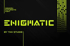 ENIGMATIC - Modern Font Product Image 1