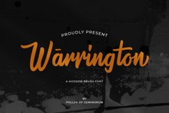 Warrington - Modern Brush Font Product Image 1