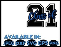 Graduation SVG DXF JPEG Silhouette Cameo Cricut Class 2021 Product Image 2
