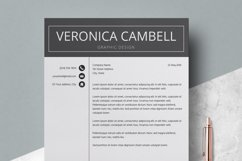 Resume | CV Template Cover Letter - Veronica Cambell Product Image 4