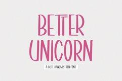 Better Unicorn // Handwritten Font Product Image 1