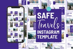 Safe Travels Instagram Canva Template Product Image 2