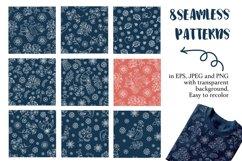 ETHNIC WINTER Folk Ornament Decor Fabric Print Doodle Product Image 4