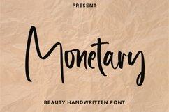 Web Font Monetary - Handwritten Script Font Product Image 1