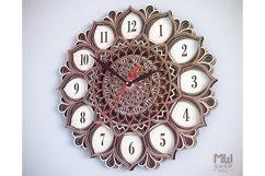C06 - Mandala Flower Clock, Layered Clock DXF, Clock SVG Product Image 5