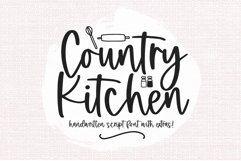 Country Kitchen - A Script Font with Farmhouse Doodles Product Image 1