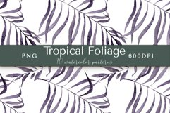 Tropical Foliage Watercolor Patterns Product Image 4