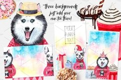 CHRISTMAS AND DOGS watercolor set Product Image 4