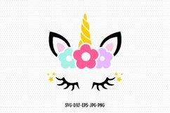 unicorn svg, unicorn eyelashes, unicorn birthday svg, Magical unicorn svg,, unicorn face svg, Cricut, Silhouette Cut File, SVG DXF EPS Product Image 1