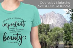 Friedrich Nietzsche Quotes - Quote SVG and Cut Files Product Image 2