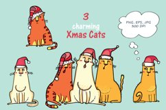 Xmas Cats clip-art, patterns, cards Product Image 2