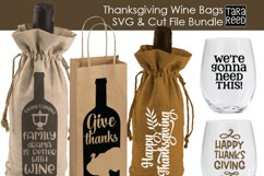 Thanksgiving Wine Bags - SVG and Cut Files for Crafters Product Image 3