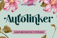 Autolinker Fancy Ligature Font Product Image 1